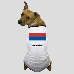 Serbia Flag Stuff Dog T-Shirt