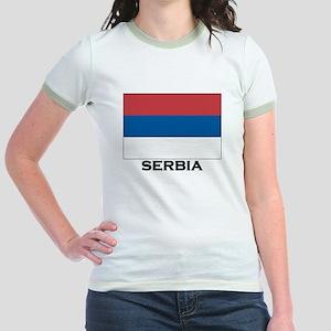 Serbia Flag Stuff Jr. Ringer T-Shirt