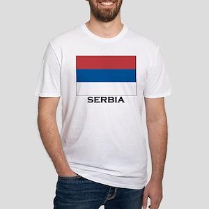 Serbia Flag Stuff Fitted T-Shirt