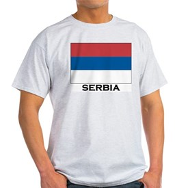 Serbia Flag Stuff Ash Grey T-Shirt