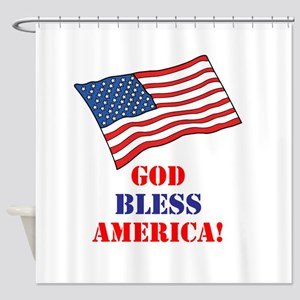 God Bless America! Shower Curtain