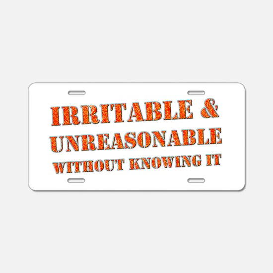 """Irritable"" Aluminum License Plate"