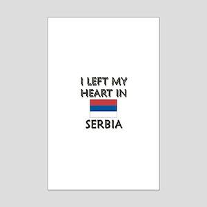 I Left My Heart In Serbia Mini Poster Print