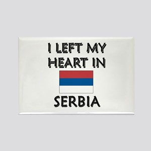 I Left My Heart In Serbia Rectangle Magnet