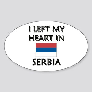 I Left My Heart In Serbia Oval Sticker