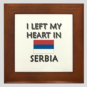 I Left My Heart In Serbia Framed Tile