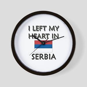 I Left My Heart In Serbia Wall Clock