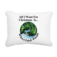 Christmas Peas Rectangular Canvas Pillow