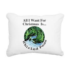 Christmas Peas Rectangular Canvas Pillow