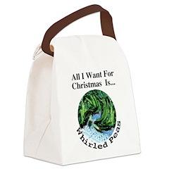 Christmas Peas Canvas Lunch Bag