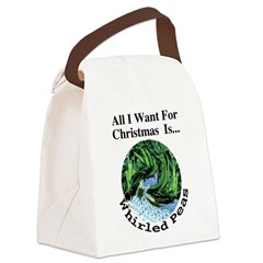 Christmas Peas Canvas Lunch Bag