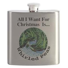 Christmas Peas Flask
