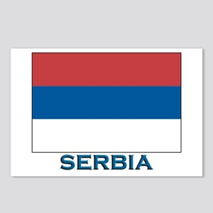 Serbia Flag Gear Postcards (Package of 8)