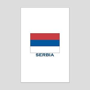 Serbia Flag Gear Mini Poster Print