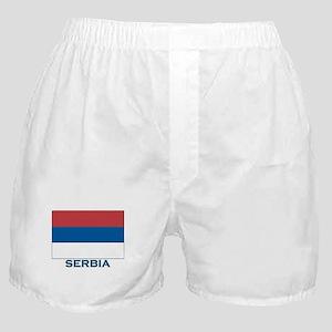 Serbia Flag Gear Boxer Shorts