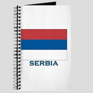 Serbia Flag Gear Journal