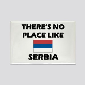 There Is No Place Like Serbia Rectangle Magnet