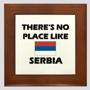 There Is No Place Like Serbia Framed Tile