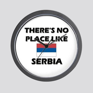 There Is No Place Like Serbia Wall Clock