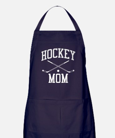 Hockey Mom Apron (dark)