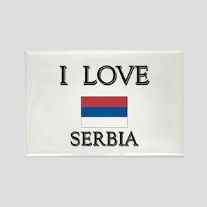 I Love Serbia Rectangle Magnet