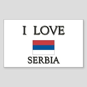 I Love Serbia Rectangle Sticker