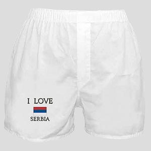 I Love Serbia Boxer Shorts