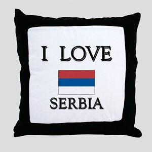 I Love Serbia Throw Pillow