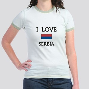 I Love Serbia Jr. Ringer T-Shirt