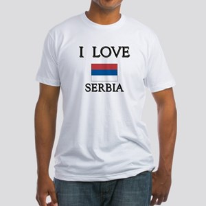 I Love Serbia Fitted T-Shirt