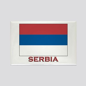 Serbia Flag Merchandise Rectangle Magnet