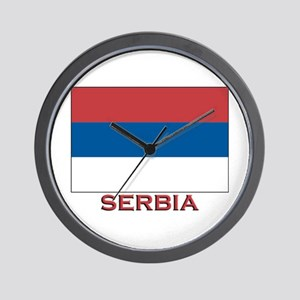 Serbia Flag Merchandise Wall Clock