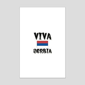 Viva Serbia Mini Poster Print