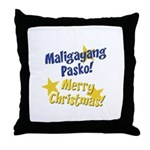 Maligayang Pasko Throw Pillow