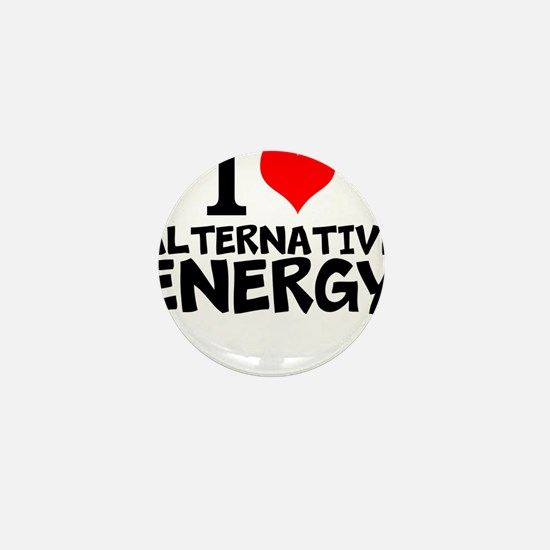 I Love Alternative Energy Mini Button