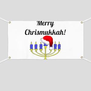 Merry Chrismukkah Menorah Banner