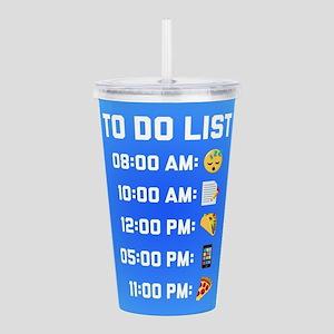 Emoji To Do List Acrylic Double-wall Tumbler