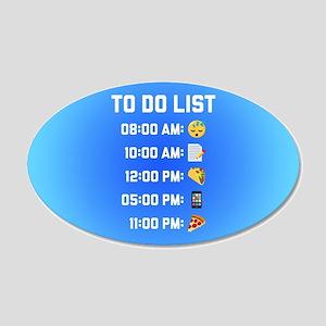 Emoji To Do List 20x12 Oval Wall Decal
