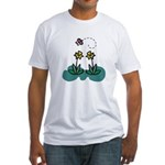 daffodils and butterfly.png Fitted T-Shirt