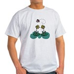 daffodils and butterfly.png Light T-Shirt