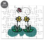 daffodils and butterfly.png Puzzle