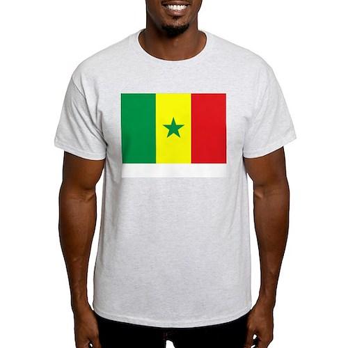 Senegal Flag Picture Ash Grey T-Shirt