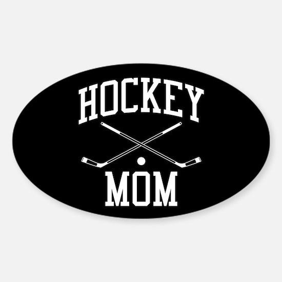 Hockey Mom Sticker (Oval)