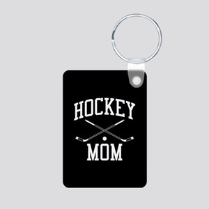 Hockey Mom Aluminum Photo Keychain