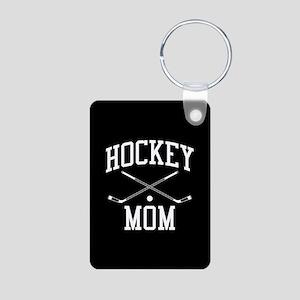 Hockey Mom Aluminum Photo Keychain