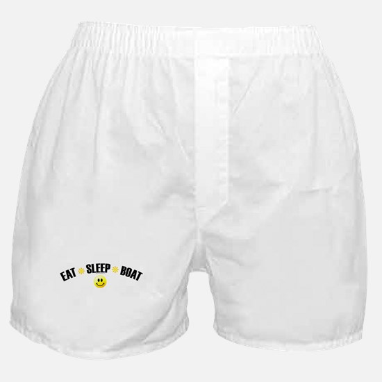 eat_sleep_boat.jpg Boxer Shorts