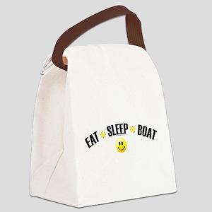 eat_sleep_boat Canvas Lunch Bag