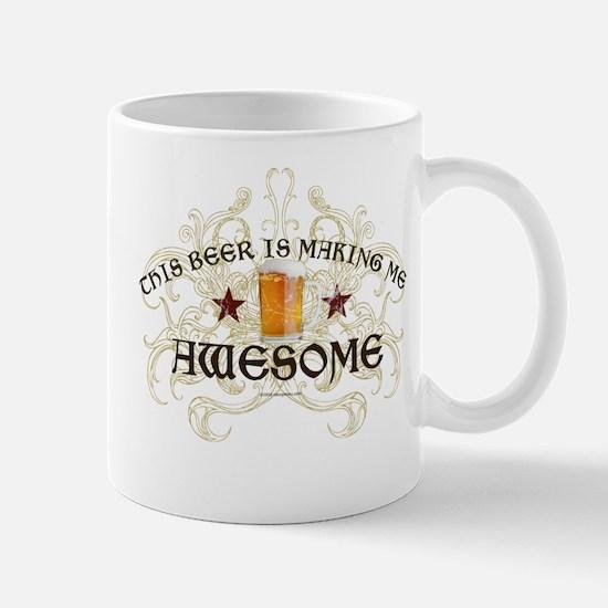 Beer Makes Me Awesome Mug