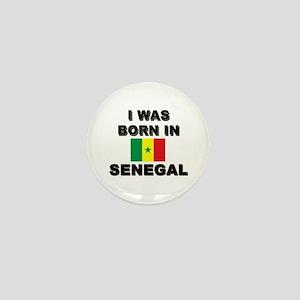 I Was Born In Senegal Mini Button