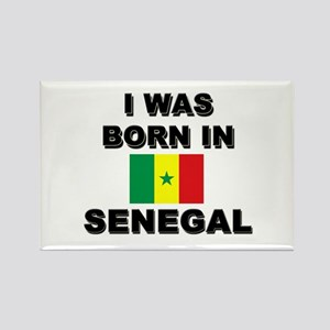 I Was Born In Senegal Rectangle Magnet